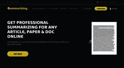 summarizing.biz - the best summary maker on the web  guaranteed satisfaction