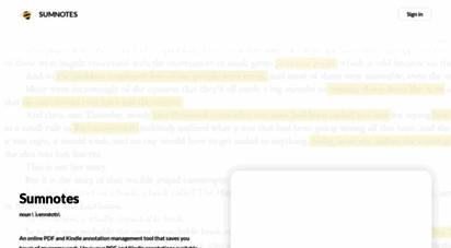 sumnotes.net - sumnotes - summarize pdf annotations