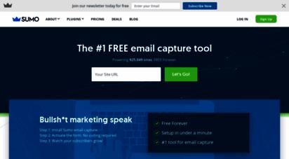 sumo.com - sumo: the 1 free email capture tool