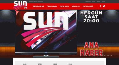 suntv.com.tr - sun tv - türkiye´nin ilk yerel televizyonu.