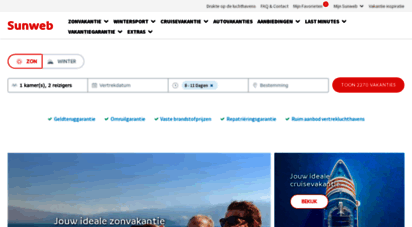 sunweb.nl - vakantie boeken  zon-, winter- & autovakanties  sunweb