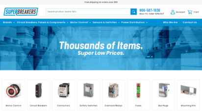 superbreakers.net - thousands of electrical items. super low prices.  superbreakers.com