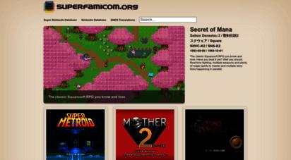 superfamicom.org - super nintendo snes games database - snes games & rom info  superfamicom.org