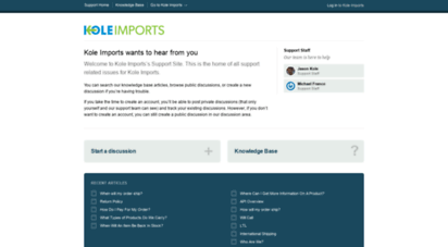 Welcome to Support koleimports com - Welcome - Kole Imports Support