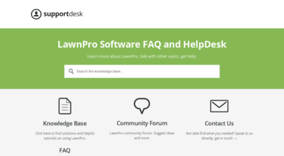 Welcome to Support lawnprosoftware com - LawnPro Support