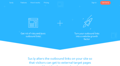sur.ly - sur.ly: turn your outbound links  a website growth factor.