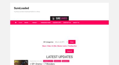sureloaded.net - sureloaded » best website in music & entertainment from nigeria & africa