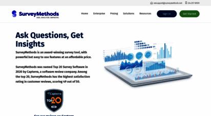 surveymethods.com - surveymethods  online survey software  data anlysis