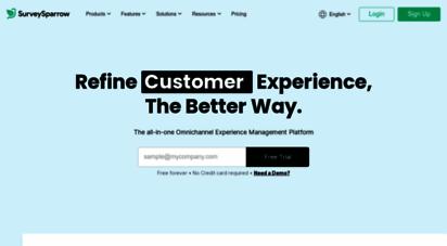 surveysparrow.com - omnichannel experience management platform - surveysparrow