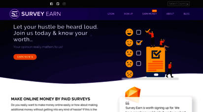 surveytoearn.com - earn and make online money by paid survey  survey to earn