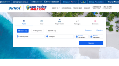sutra.my - top travel agency in kuala lumpur kl, malaysia - sri sutra travel