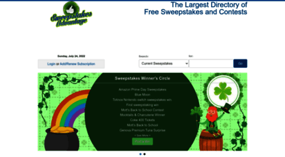 Welcome to Sweepsadvantage com - Sweepstakes Online - Daily Contests