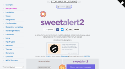 sweetalert2.github.io - sweetalert2 - a beautiful, responsive, customizable and accessible wai-aria replacement for javascript´s popup boxes