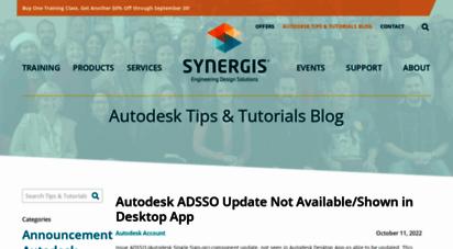 synergiscadblog.com - tips & tutorials blog - synergis®