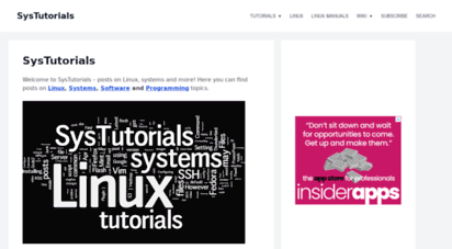 systutorials.com - systutorials: posts on linux, systems and more