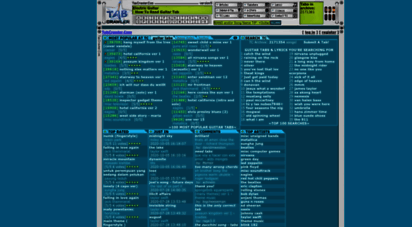 tabcrawler.com - tabcrawler.com® - 940,000 guitar tabs, bss tabs, lyrics, keyboard and drum tabs archive