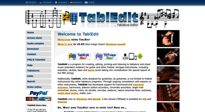 Welcome to Tabledit com - TablEdit Tablature Editor