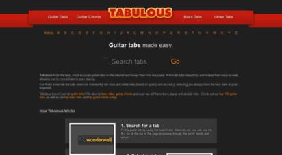 tabulous.co.uk - tabulous - guitar tabs