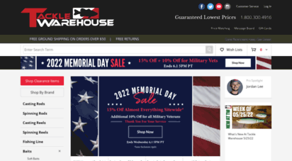tacklewarehouse.com - tackle warehouse - bss fishing shop for fishing rods, reels, swimbaits and lures