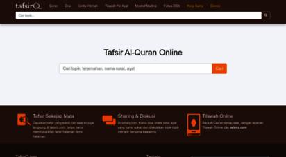 tafsirq.com - al-quran online bahasa indonesia  tafsirq.com