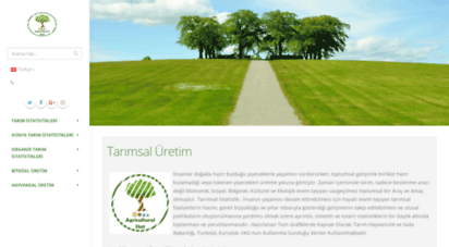tarimsalistatistik.com - agricultural statistics , tarımsal istatistik