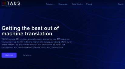 taus.net - home - taus - the language data network
