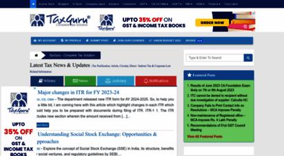 taxguru.in - complete tax solution: latest tax news india, tax notification