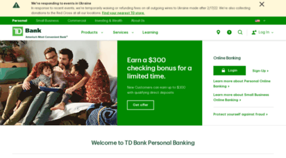 Welcome to Tdbank com - TD Personal Banking, Loans, Cards
