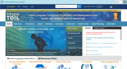 tdil-dc.in - indian language technology proliferation and deployment centre - home