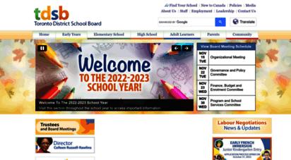 tdsb.on.ca - toronto district school board