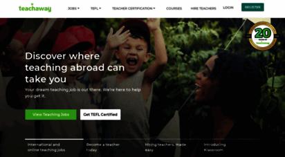 teachaway.com - teach abroad or online  your dream teaching job awaits