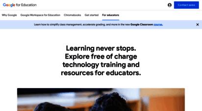 teachercenter.withgoogle.com - google for education: kursleiter-center