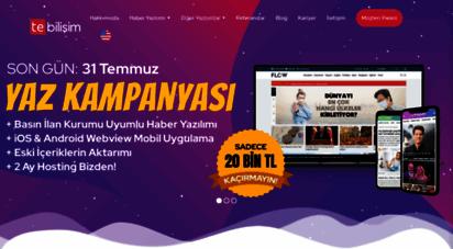 tebilisim.com - haber yazılımı, web tasarımı, mobil ve reklam çözümleri - te bilişim