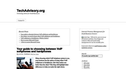 techadvisory.org - techadvisory.org  technology advice for small businesses