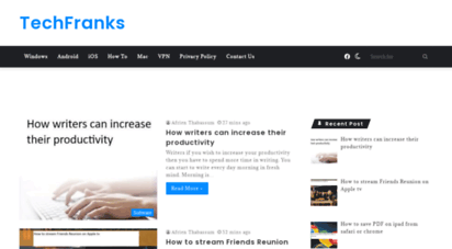 techfranks.com - techfranks - news,blog,technology,detailed guide,instructions,how to &amp reviews. very easy to learn what you want from media&039s.