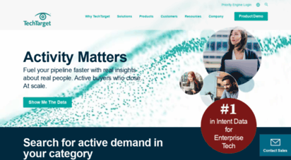 techtarget.com - purchase intent data for enterprise tech sales and marketing - techtarget