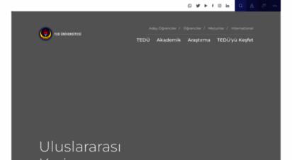 tedu.edu.tr - ted üniversitesi