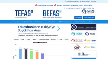 tefas.gov.tr - takasbank tefas  fon bilgilendirme platformu