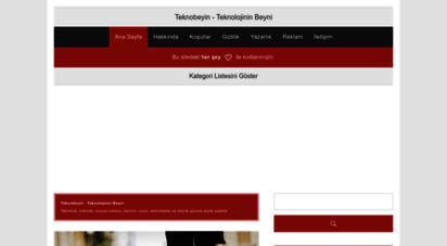teknobeyin.com - teknobeyin » teknoloji, internet, bilgisayar, mobil, oyun, yazılım