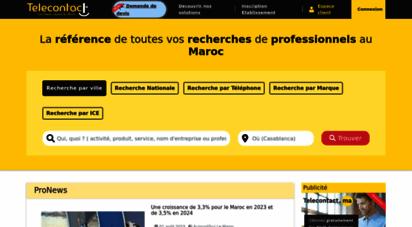 telecontact.ma - les pages jaunes maroc, annuaire des professionnels et bonnes adresses