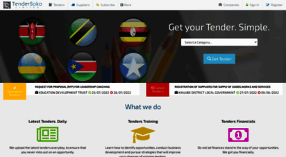 Welcome to Tendersoko com - TenderSoko | The Tenders Market  For all