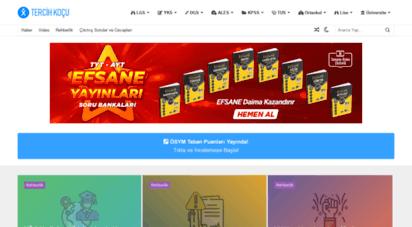 tercihkocu.com - tercih koçu - sınavlara hazırlıkta rehberlik platformu