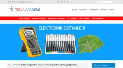 teslaakademi.com - elektronik, mikrodenetleyici, otomasyon eğitimleri ve proje merkezi
