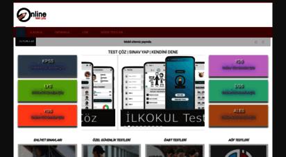 test-coz.com - online test çöz