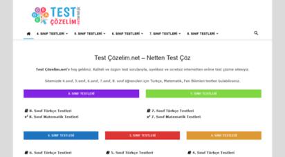 testcozelim.net - test çözelim.net - netten test çöz - interaktif / online test soruları