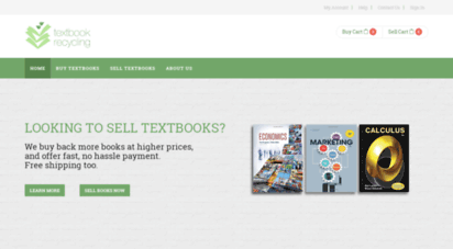textbookrecycling.com - textbook recycling  buy, rent or sell new and used textbooks