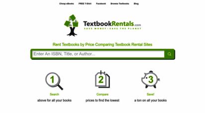 textbookrentals.com - rent textbooks cheap - price compare textbook rental sites