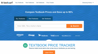 textsurf.com - textsurf - textbook price comparison tool