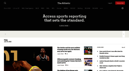 theathletic.com - the athletic - the new standard of sports journalism