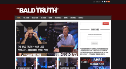 thebaldtruth.com - hair loss radio show: the bald truth